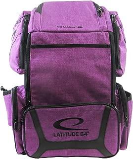Latitude 64 Golf Discs DG Luxury E3 Backpack Disc Golf Bag - Purple/Black
