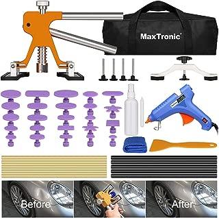 MaxTronic 46 Pcs Paintless Dent Repair Tool Kit, Adjustable Car Dent Puller Removal Kit, Pops a Dent with Dent Remover Lifter, Bridge Puller & Glue Gun for Auto Body Motor Fridge Door Ding Hail Damage