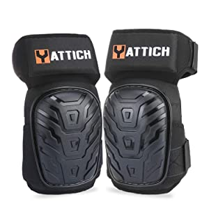 YATTICH Knee Pads for Work, Soft Gel Core and Durable EVA Foam Padding Professional Knee Pads, Use for Cleaning, Flooring etc. Best Gifts for Father, Husband, Boyfriend, YT-754