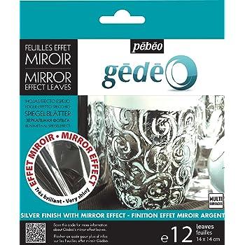 Pebeo Gedeo Feuille effet miroir Dorure feuilles Lot de 12