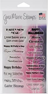 Gina Marie Designs Clear Stamps, 4-Inch by 6-Inch