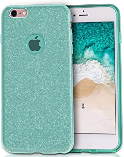 MILPROX Bling Glitter Pretty Sparkle 3 Layer Hybrid Anti-Slick/Protective/Soft Slim TPU Case Compatible with iPhone 6s Plus / 6 Plus- Green