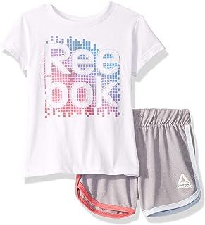 Reebok Girls Sleeve Athletic T-Shirt and Pull-on Short Set