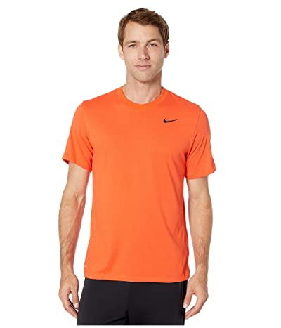 Nike Dry Tee Dri-FITtm Cotton Crew Solid (Team Orange/Black) Men