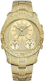 JBW Wrist Watch for Men Diamond Inlay 150 Piece, Stainless Steel,J6348A