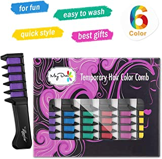 Maydear Temporary Hair Color Hair Dye Hair Chalk Comb with Bright Colors - Popular and Economy Pack (Economy Pack)