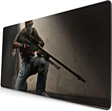 Counter-Strike Gl-Ob-Al Offe-Nsi-Ve Texture Mouse Pad with Stitched Edges, 29.515.8 Inch Extra Large Mouse Pad