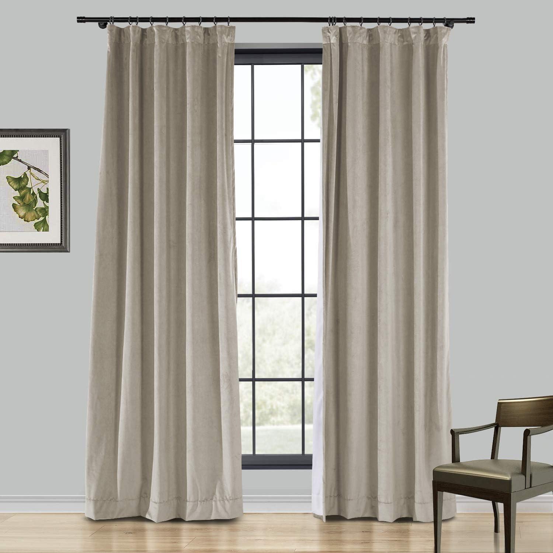 TWOPAGES Velvet Curtain 102 交換無料 人気ブランド多数対象 Inches Solid Room Long Darkening Ho