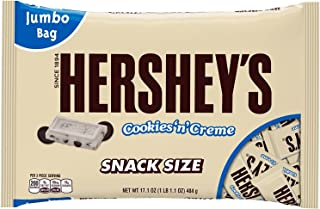 Hershey's Cookies 'n' Creme Snack Size Bars, 17.1-Ounce Bag