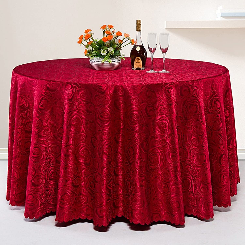 L&Y Manteles Hotel manteles Restaurante Mesa rojoonda Mantel hogar manteles Mantel Cubierta de Mesa Antependio Manteleria (Color   rojo, Tamao   320CM)