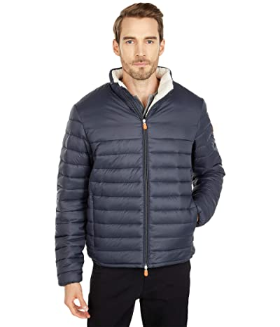 Save the Duck Giga Sherpa Lined Puffer Jacket (Grey/Black) Men