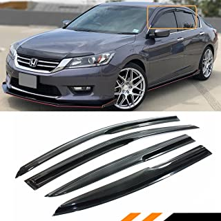 Cuztom Tuning Fits for 2013-2017 9TH Gen Honda Accord 4 Door Sedan Smoked Window Sun Visor Rain Guard Set