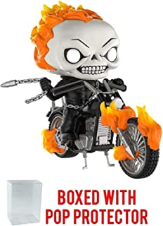 Funko Pop! Rides: Marvel Classic Ghost Rider with Motorcycle PX Exclusive Vinyl Figure (Bundled with Pop Box Protector Case)