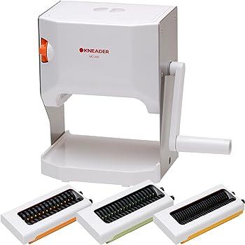 日本ニーダー(KNEADER) 洗えるパスタマシン 製麺機 「麺や」 (麺カッター2mm・3mm・4mm) MCS203