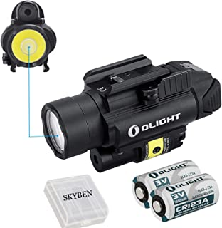 Olight PL-2RL Baldr 1200 Lumens 235 Meters Beam Distance Cree XHP35 HI LED Ultra Hight Output LED with Two CR 123A Batteries,SKYBEN Battery Case Included