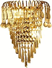Lamp, Crystal Bedroom Bedsides Wall Lights Clear Glass Hanging Golden Base Corridor Wall Sconces Living Room Stair Case Ha...