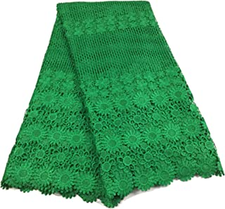 Latest Teal African French Lace Fabric Guipure Lace Chemical Lace Fabric for Wedding Or Party,As Picture2