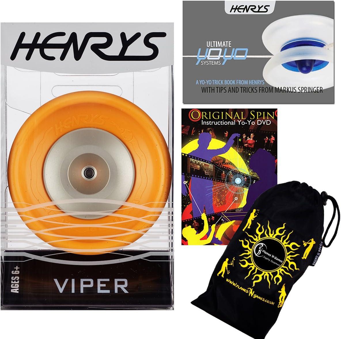 Henrys VIPER YoYo Orange Professional Manufacturer OFFicial Finally popular brand shop Bearing Ball +Instr