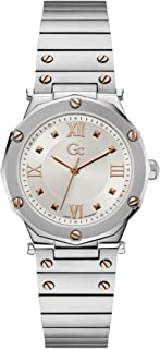 Gc Womens Quartz Watch, Analog Display And Stainless Steel Strap - Y60001L1MF