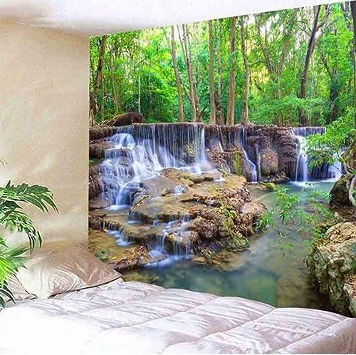 AITU Tapestry Forest Falls Mountain HD Scenic Beach Chambre Salon Déco Tapisserie