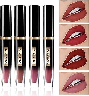 Matte Liquid Lipstick Long Lasting Lip Cream Makeup Highly Pigmented Lips Color for Women Make Up Cosmetics (SET 05)