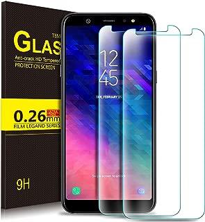 Samsung Galaxy A6 2018 Protector de Pantalla, KuGi Cristal Templado Vidrio Templado [9H Dureza] [Alta Definicion] Protector de pantalla para Samsung Galaxy A6 2018 (Paquete de 2)