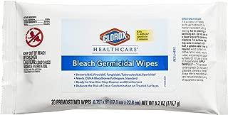 Clorox Healthcare Bleach Germicidal Wipes, 20 Count (31469)