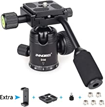 Ball Head with Handle All Metal CNC Panoramic Tripod Ball Heads Camera Mount INNOREL Ball Head with Two Quick Release Plates for Tripod, DSLR, Camcorder, Telescope,Max Load 22lbs/10kg