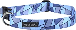 West Paw Outings Collar, Large, Blue Fractal