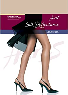 3431b674a0f Hanes Womens Set of 3 Silk Reflections Control Top RT Pantyhose