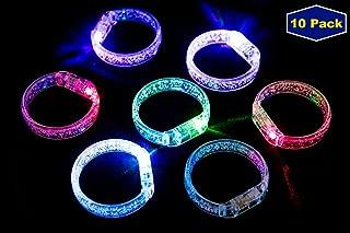 Midafon 10Pcs Led Bracelets Light Up Party Favors Glow Toys Supplies