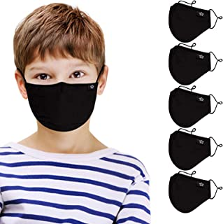 Kids Reusable and Washable Balaclavas Cotton Fashion with Adjustable Ear Loops(5 PCS)
