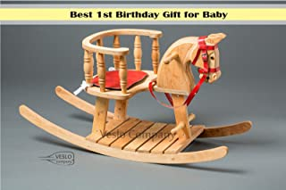 Beautiful Rocking Horse - Bright Flash - Ride on wooden horse - Classic English Rocking Horse - Royal Toy - Best Gift for Baby