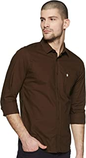 French Connection Men's SolidSlim Fit Casual Shirt