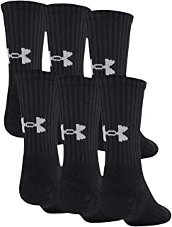 Youth Training Cotton Crew Socks, 6-Pairs