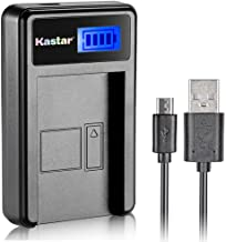 Kastar LCD Slim USB Rapid Charger for Fujifilm NP-45, Nikon EN-EL10, Olympus LI-42B LI-40B, Kodak KLIC-7006 K7006, Casio NP-80 CNP80, D-Li63, D-Li108, Ricoh DS-6365 Battery.