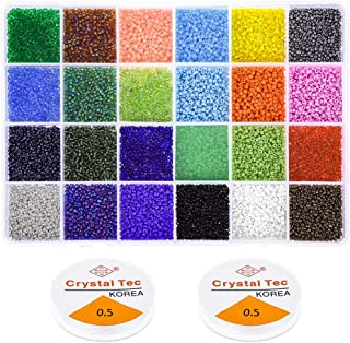 Beads for Bracelets, Anezus 14400 Pcs Pony Seed Beads Bracelet Beads Small Glass Rainbow Beads for Jewelry Making