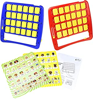Children's Educational Toys Guess Who I Am Fun Guess Characters and Pets Interactive Parent-Child with 2 Game Boards, Cart...