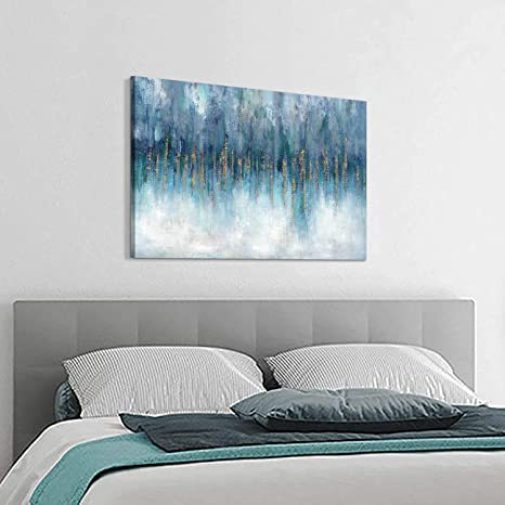 Amazon Com Hardy Gallery Abstract Picture Wall Art Canvas Modern Artwork Texture Painting On Canvas For Bedroom 36 X 24 X 1 Panel Home Kitchen