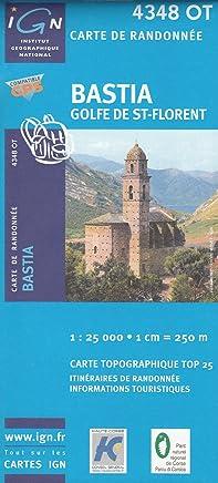 IGN 4348 OT Bastia, Golfe de St-Florent (Corsica, France) 1:25.000 topographic hiking map IGN