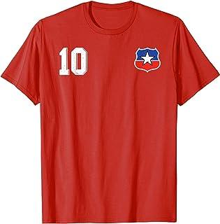 Camiseta Futbol Chile Soccer La Roja T-Shirt number 10