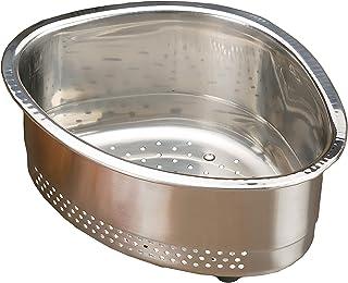 RSVP International CORNR In- Sink Corner Basket, 18/8 Stainless Steel, Multicolor