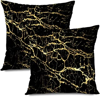 Ahawoso Set of 2 Throw Pillow Covers Square 16x16 Marbling Slab Metal Texture Dirty Stroke Design Poster Template Brochure Abstract Textures Damaged Zippered Pillowcases Home Decor Cushion Cases