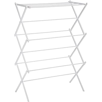 AmazonBasics Foldable Clothes Drying Laundry Rack - White