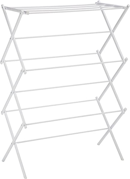 AmazonBasics Foldable Clothes Drying Laundry Rack White