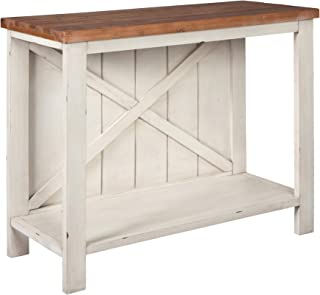 Signature Design by Ashley - Abramsland Console Sofa Table - Casual - White/Brown