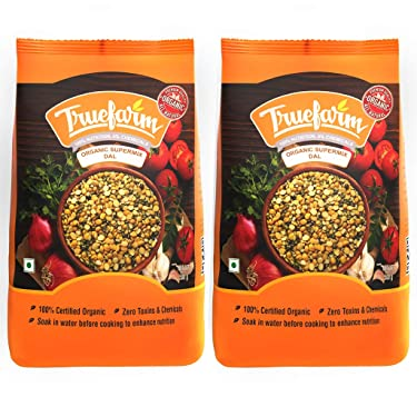 Truefarm Organic Supermix Dal - 1Kg (Pack of 2 x 500g)
