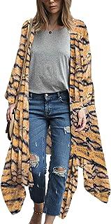Women's Long Kimono Flowy Cardigan Boho Style Chiffon...