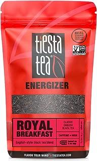 Tiesta Tea Royal Breakfast, Classic English Black Tea, 30 Servings, 1.7 Ounce Pouch, High Caffeine, Loose Leaf Black Tea Energizer Blend, Non-GMO