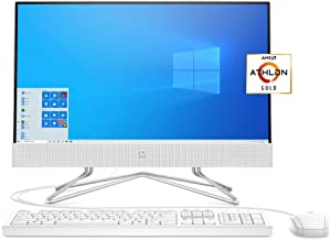 HP 22 All-in-One PC, AMD Athlon Gold 3150U Processor, 4 GB RAM, 256 GB SSD, Full HD IPS 21.5-inch Anti-Glare Display, Wind...